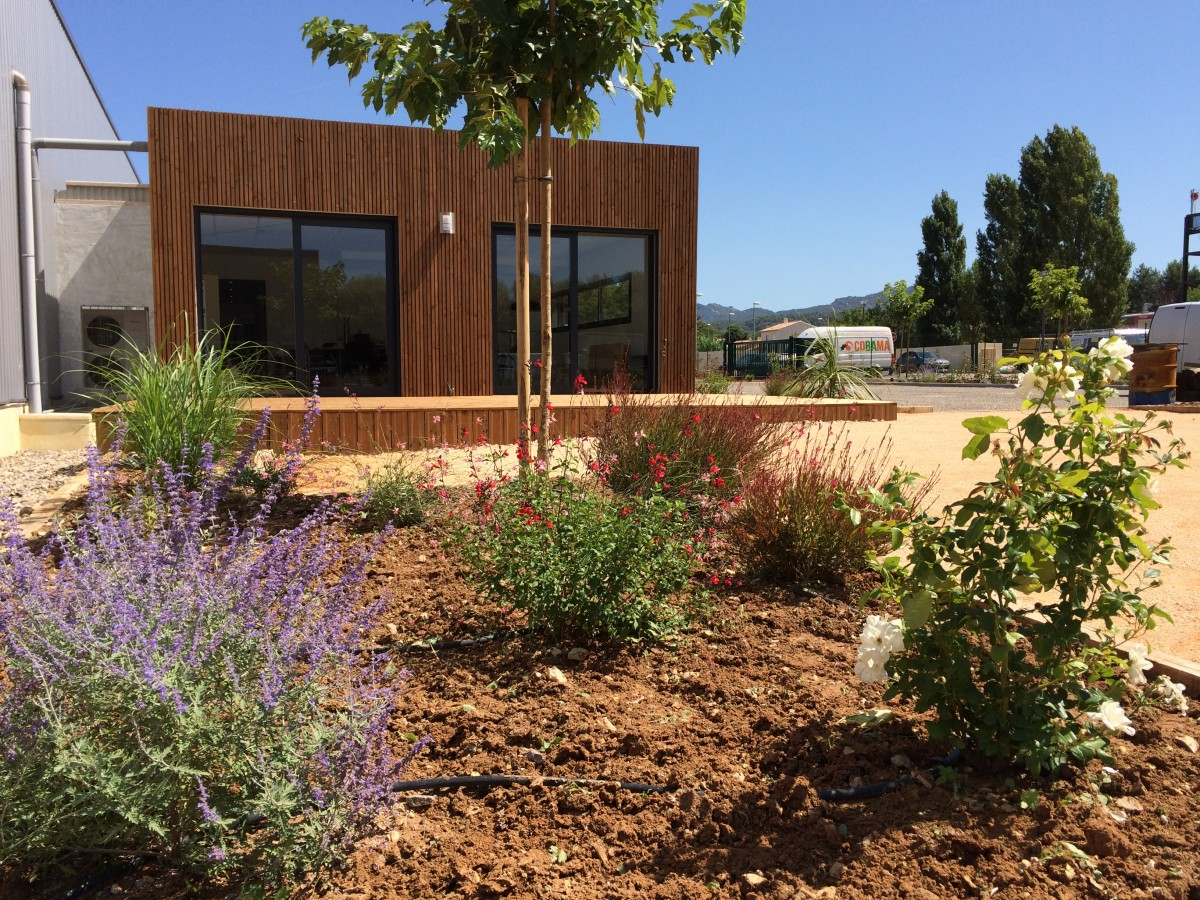 Jardin d 39 entreprise architecte paysagiste marseille for Architecte jardin