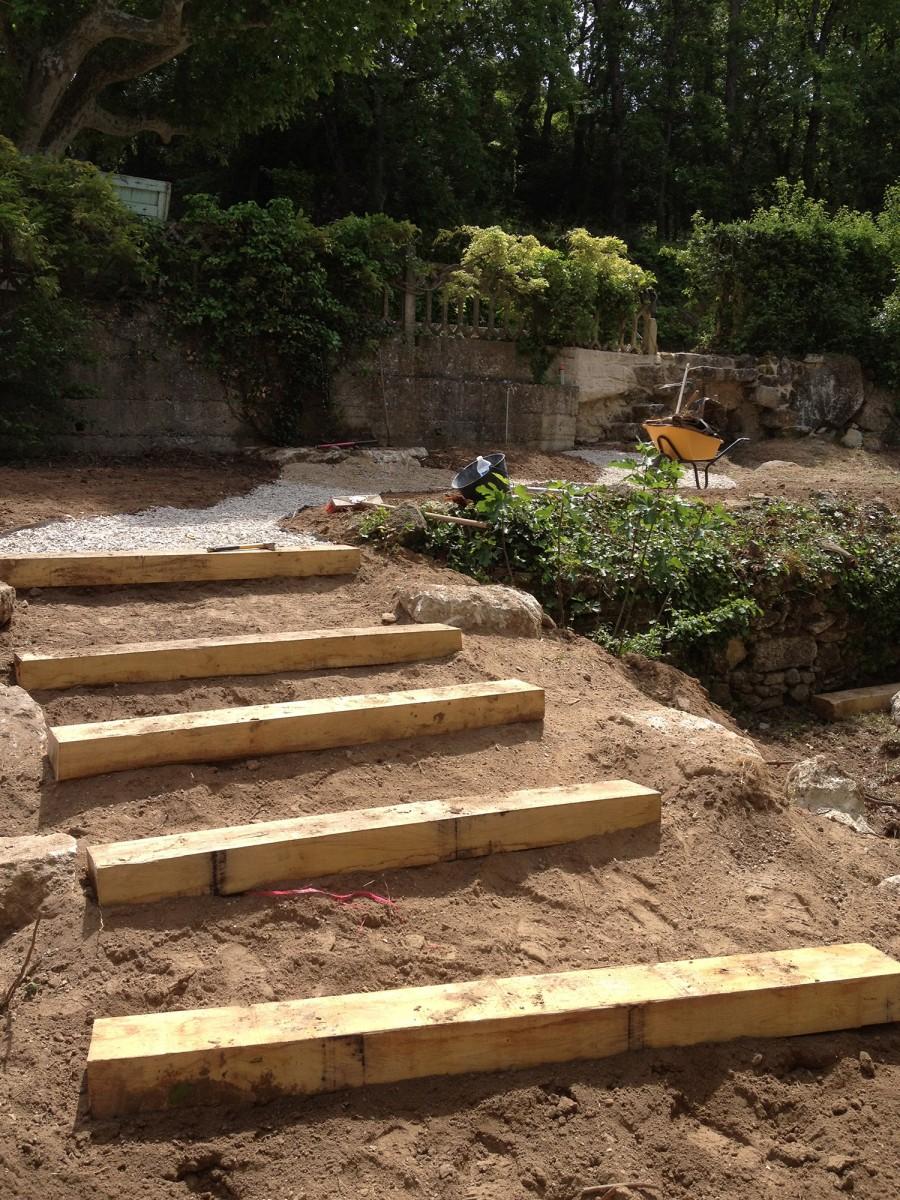 jardinier paysagiste aix en provence Création d'un jardin en restanque