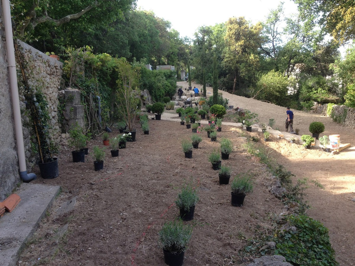 Jardinier paysagiste aix en provence cr ation d 39 un jardin en restanque - Jardin en restanque ...
