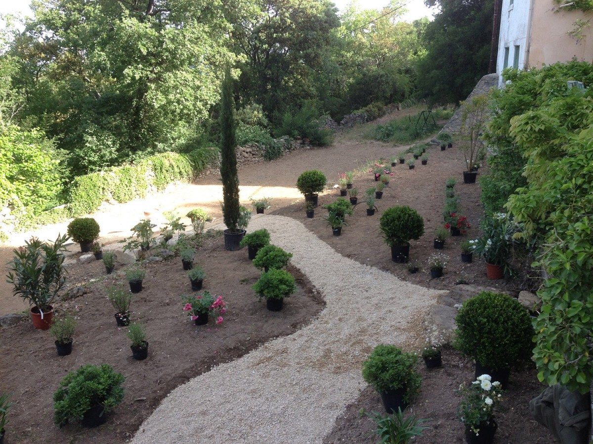 Jardinier paysagiste aix en provence cr ation d un jardin en restanque - Recuperar jardin aixen provence ...