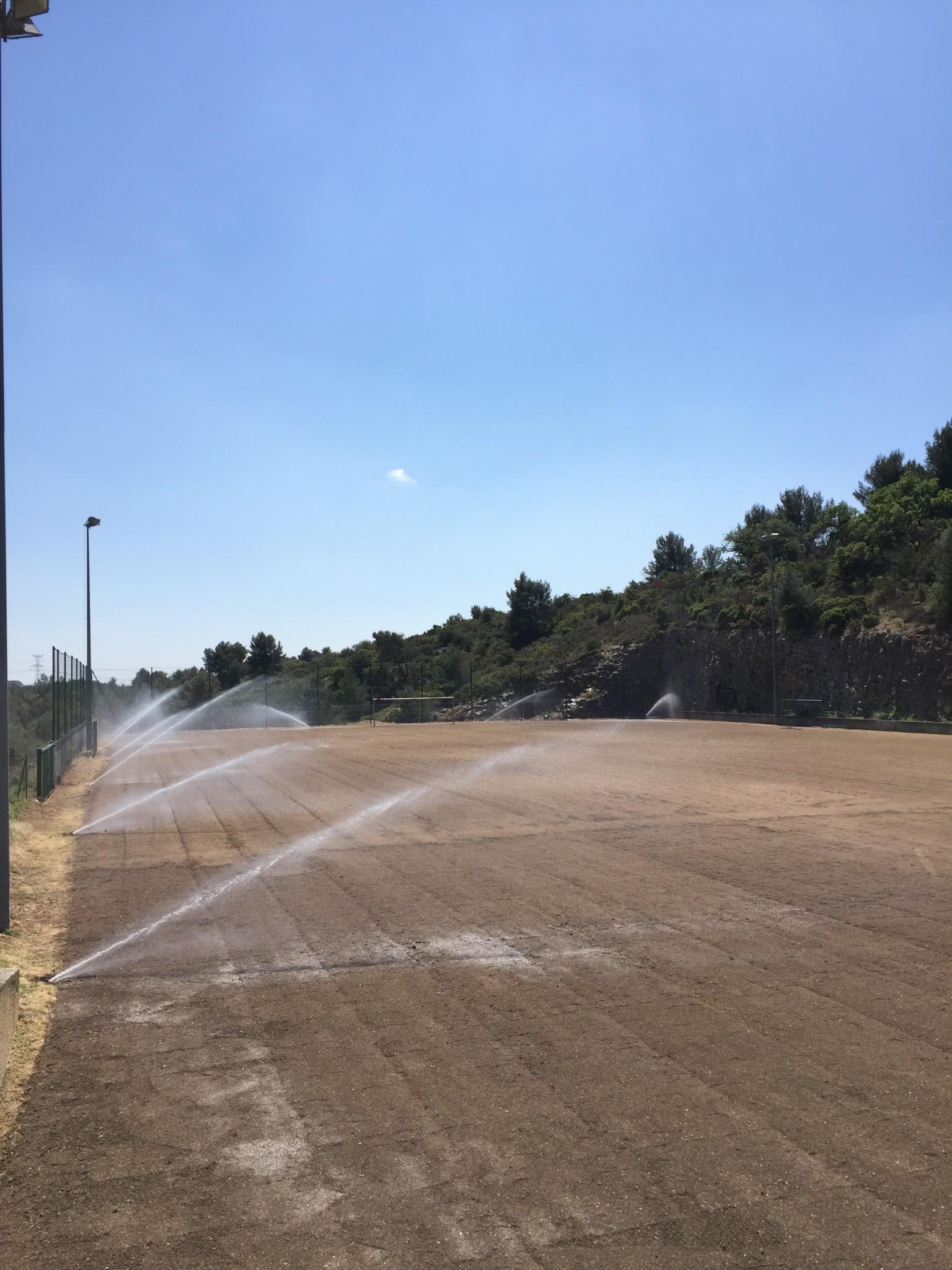 Gazon pour terrain de foot aix en provence for Le jardin des 5 sens aix en provence